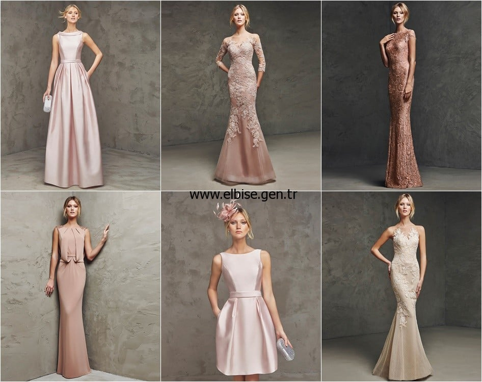 powder pink nude beige graduation dresses evening party dress